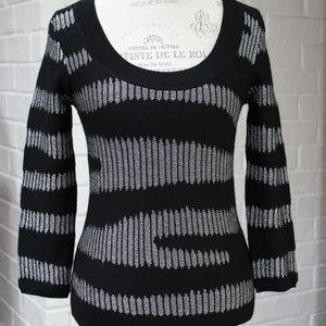 LAMB Gwen Stefani Metallic Wool Scoop Sweater Med